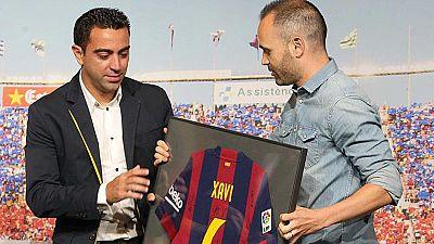 El Barça homenajea a Xavi con la mente puesta en Berlín