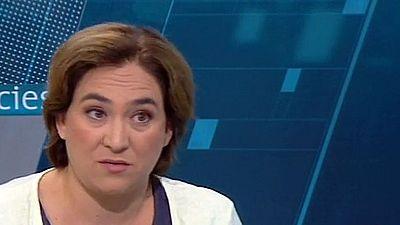 Ada Colau descarta adherirse a la hoja de ruta para la independencia como le exige ERC