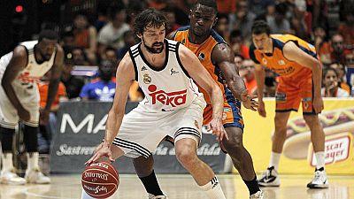 El Real Madrid ha sellado su pase a la final de la Liga Endesa al imponerse en la Fonteta al Valencia Basket por 84-90.
