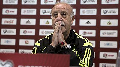 Vicente del Bosque, seleccionador español, ha dejado entrever la titularidad ante Bielorrusia de Pedro Rodríguez, autor de cuatro tantos en tres partidos al conjunto eslavo, y la suplencia de Cesc Fábregas.