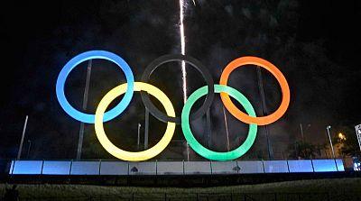 Los anillos adornan el Parque Olímpico de Río 2016