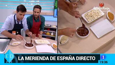 Palomitas ba�adas en chocolate y caramelos de toffee caseros