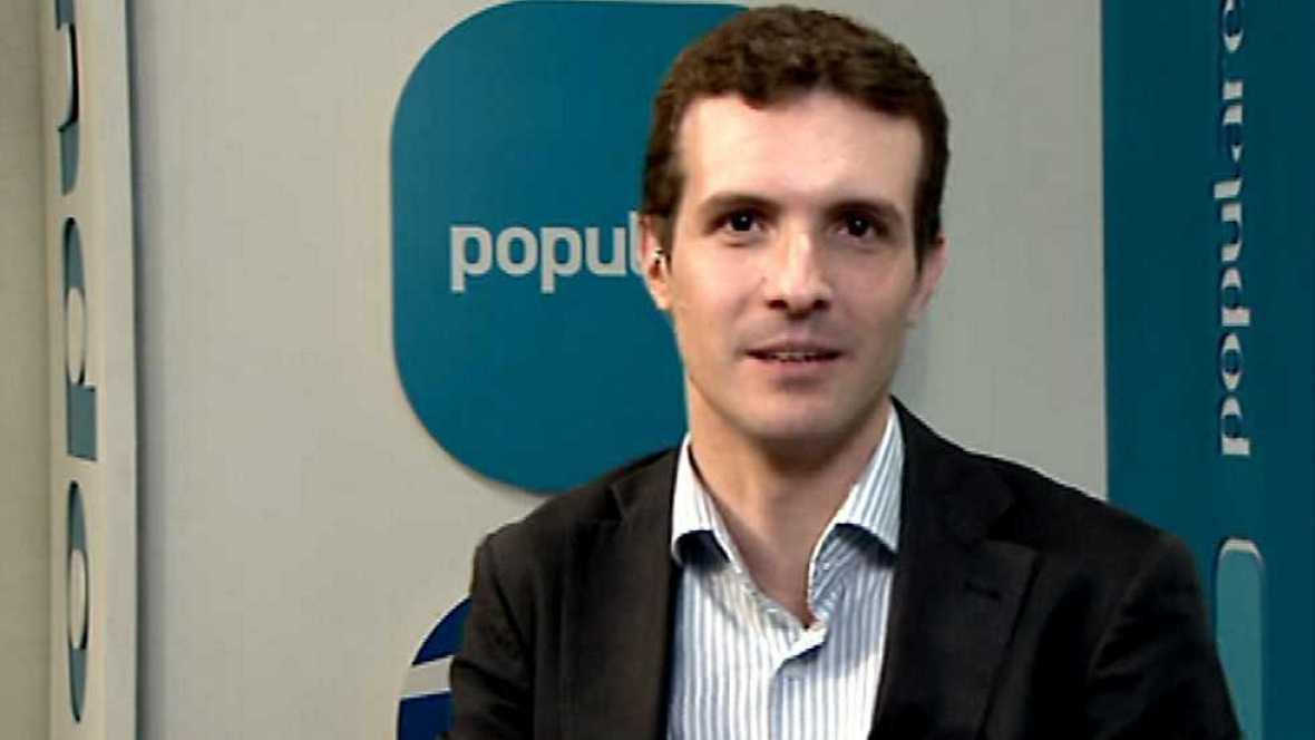 Los desayunos de TVE - Pablo Casado, nuevo vicesecretario de Comunicación del Partido Popular - Ver ahora
