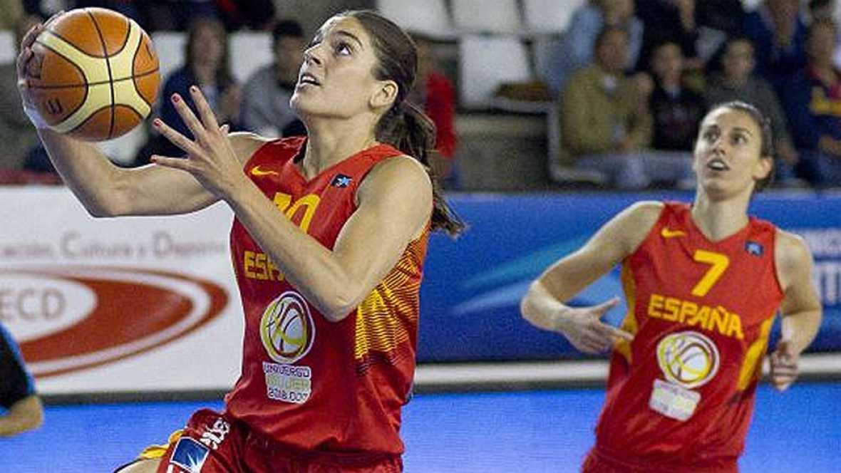 La selección española logró sobreponerse a la difícil serbia y se impuso en los minutos finales de partido por 80-91, gracias a una gran actuación de Laura Nicholls.