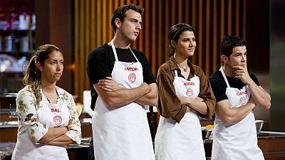 MasterChef 3 - Andrea, Antonio, Carlos y Sally, finalistas
