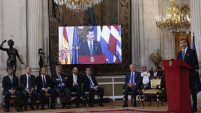El rey Felipe y el rey Juan Carlos han conmemorado la firma de la adhesión de España a la CEE