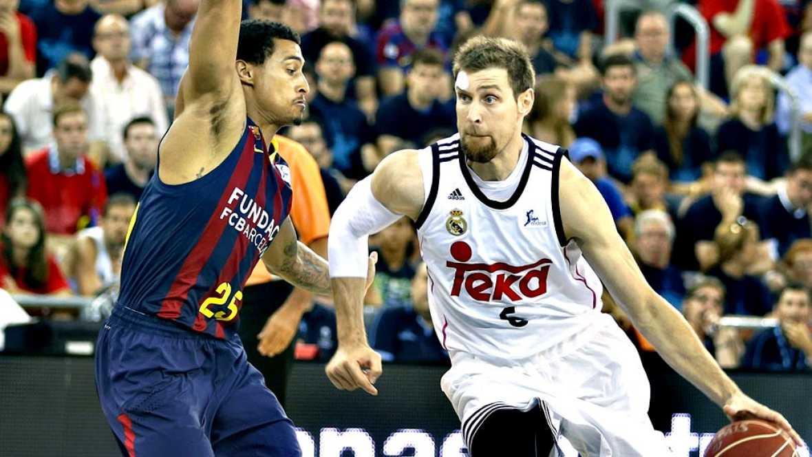 El Real Madrid se ha proclamado este miércoles campeón de la Liga Endesa de baloncesto tras derrotar Baloncesto - Liga ACB. Play Off 3º partido: FC Barcelona - Real Madrid - ver ahora