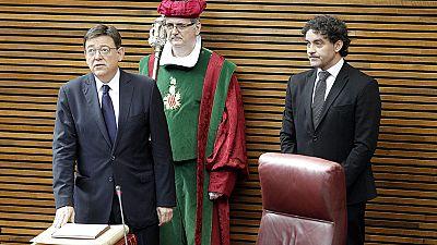 Ximo Puig promete su cargo como presidente de la Generalitat valenciana