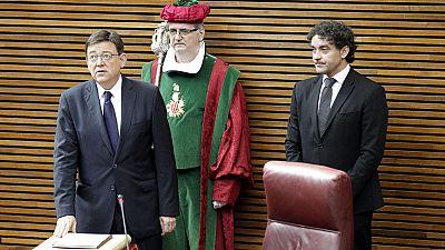 El socialista Ximo Puig promete su cargo como presidente de la Generalitat