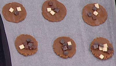 Galletas caseras y galletas con helado