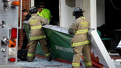Al menos diez heridos en dos explosiones en una administradora de pensiones en Bogot�