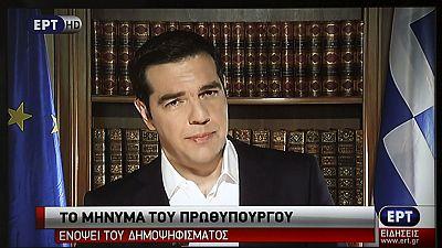 Tsipras vuelve a defender el 'no' en el refer�ndum en un mensaje televisado