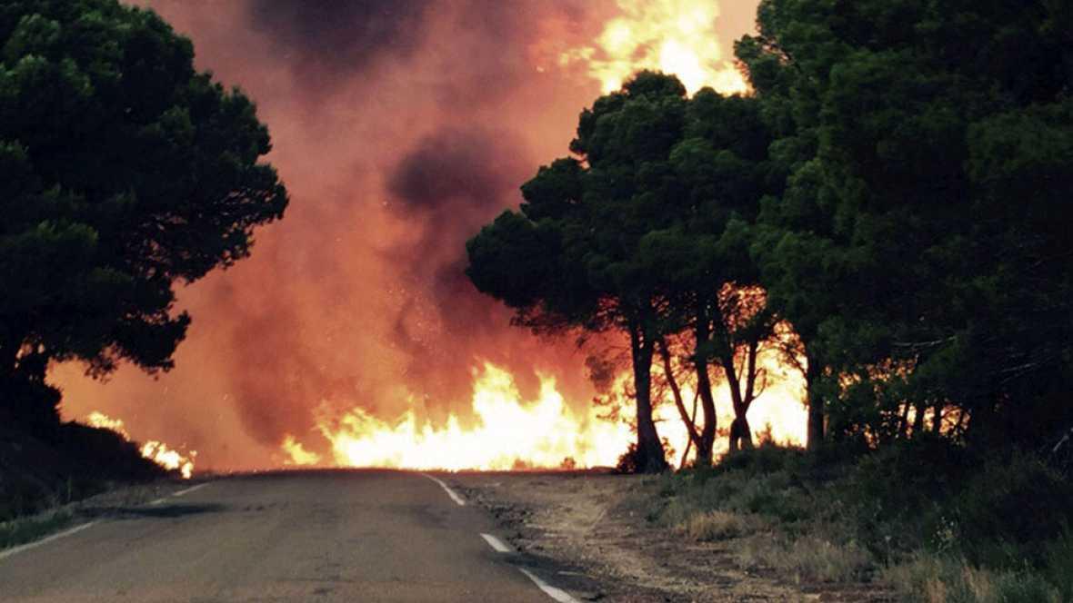 El incendio de Luna arrasa ya casi 8.000 hectáreas