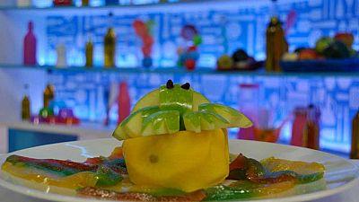 Cocina con Clan: Rana de manzana sobre nen�far de mango