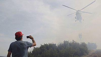 El incendio de Cinco Villas, en Zaragoza, a punto de ser controlado