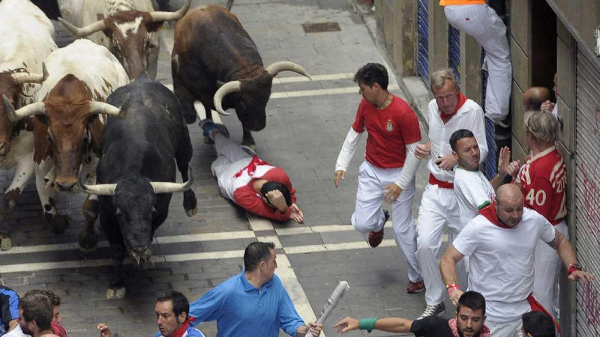 Segundo encierro de San Ferm�n 2015 con toros de El Tajo y La Reina