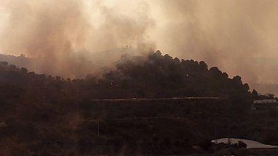 Tres incendios activos en Castellón, Granada y Jaén