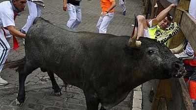 Quinto encierro de San Ferm�n 2015 con toros de Jos� Escolar