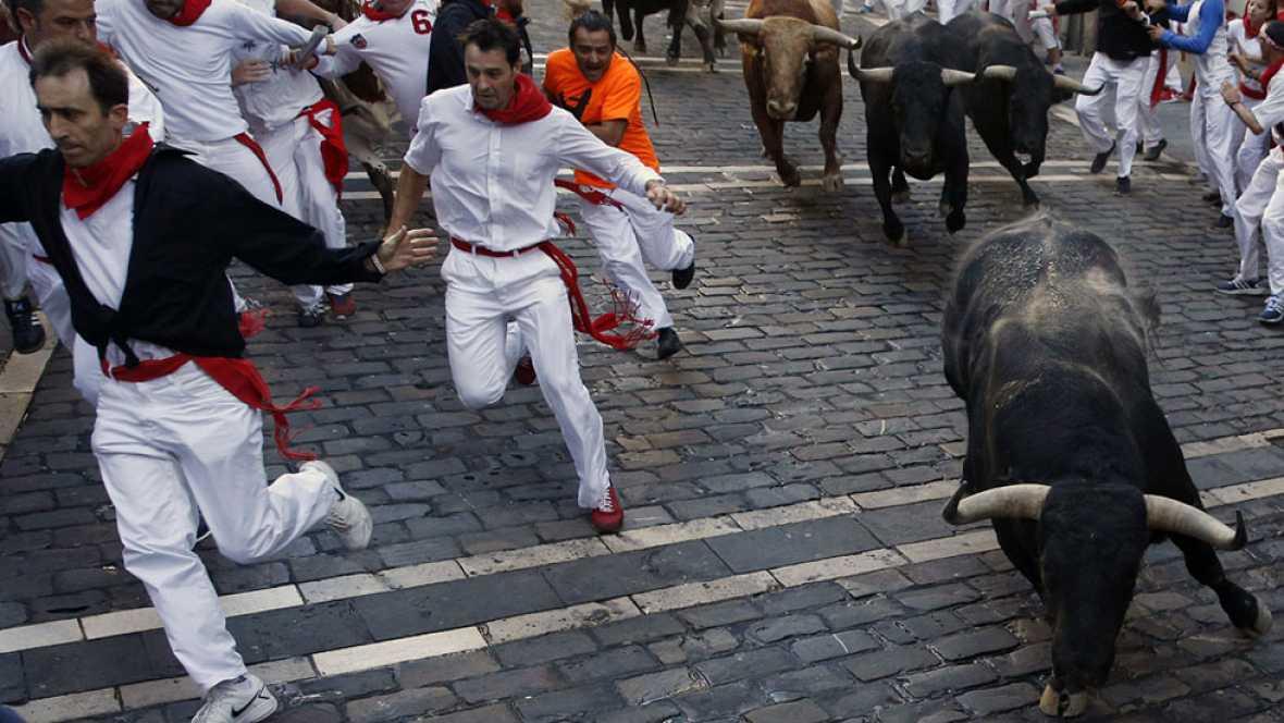 S�ptimo encierro de San Ferm�n 2015 con toros de Garcigrande
