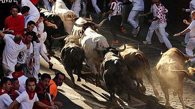 Sanfermines 2015: Dos corredores heridos por asta de toro en el séptimo encierro