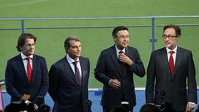 Bartomeu, abrumado en el debate con Laporta, Freixa y Benedito