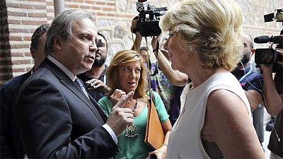 Esperanza Aguirre reprocha a Antonio Miguel Carmona el apoyo a la web Versión Original