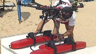 Drones para hacer de vigilantes de la playa