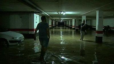 En Huesca reparan los daños de la tormenta del martes