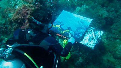 La pintura submarina, una práctica de más de un siglo de antigüedad