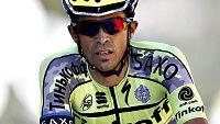 """El español Alberto Contador reconoció este jueves que la victoria final del Tour de Francia no es posible, pero indicó que intentará subir al podio final de los Campos Elíseos. """"En la posición que estoy e la general no es la que más me gusta (...) Va"""