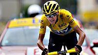 """El francés Thibaut Pinot logró hoy la victoria en el Alpe d'Huez, mientras que el británico Chris Froome se convirtió en el ganador virtual del Tour de Francia tras resistir al último ataque del colombiano Nairo Quintana, que se quedó a 1.12 del """"sue"""