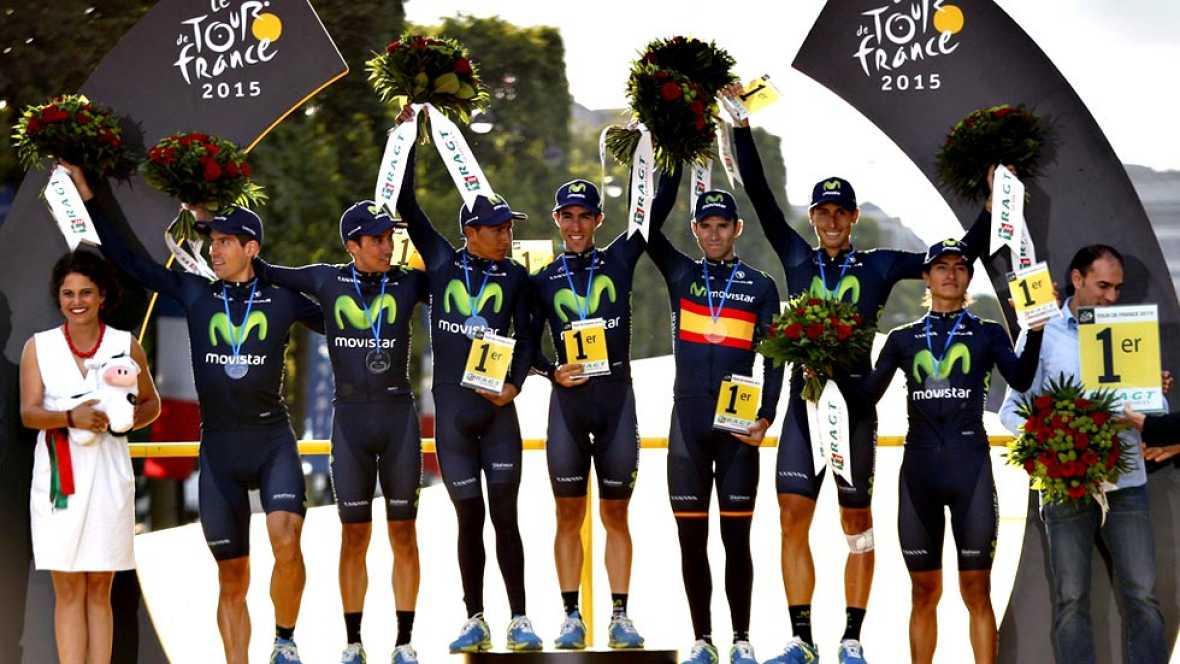 """El duelo esperado entre Chris Froome, Alberto Contador, Vincenzo Nibali y Nairo Quintana qued� pronto reducido a un mano a mano entre el brit�nico y el colombiano, que, siempre en desventaja, se qued� a 1.12 minutos de conquistar su """"sue�o amarillo""""."""