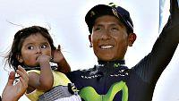 """El colombiano Nairo Quintana se mostró """"orgulloso"""" del segundo puesto logrado en el Tour de Francia y aseguró que se lo puso difícil al ganador, el británico Chris Froome. """"Creo que Froome es un gran rival y que yo le he hecho sufrir para ganar. Es u"""