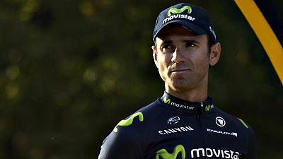 """Alejandro Valverde (Movistar) se�al� que el tercer puesto en el podio supon�a """"una gran satisfacci�n y una recompensa a muchos a�os de sacrificio""""."""