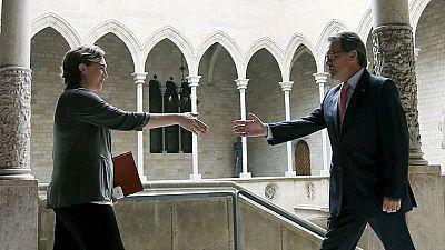 Ada Colau da su apoyo a la manifestación de la Diada del 11S