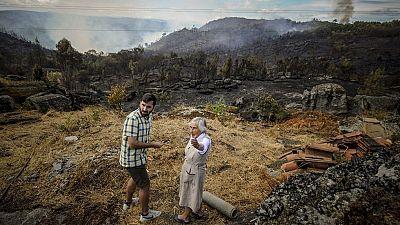 Controlado el incendio de Palmés, en Ourense