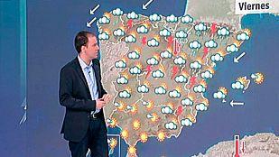 Tormentas fuertes en el tercio norte y mitad este de la Península