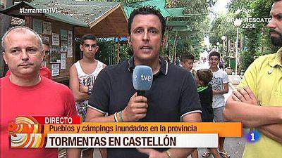 Afectados camping inundado en Castell�n
