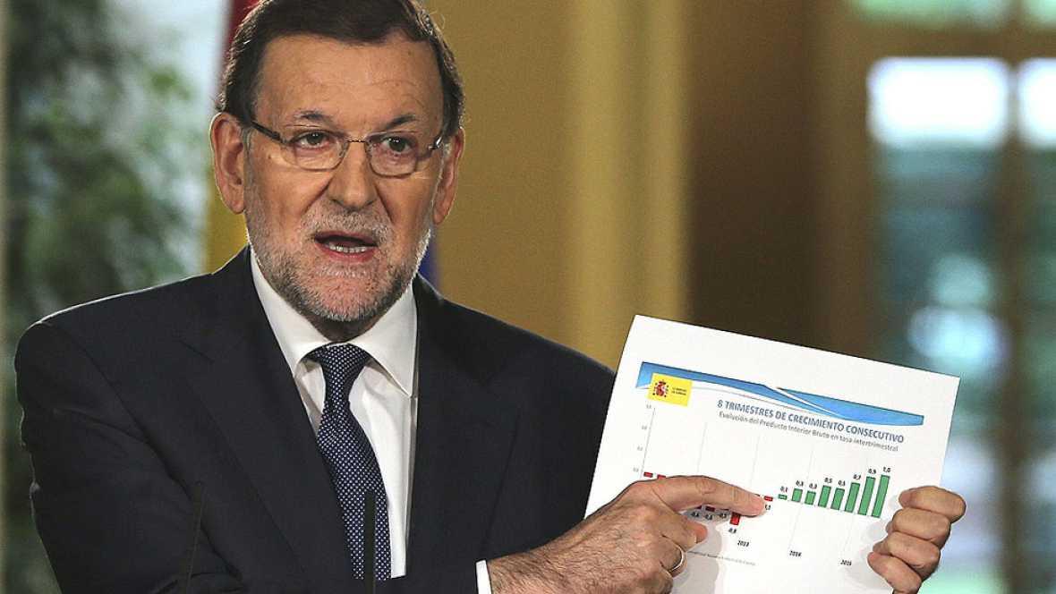 Rajoy: los presupuestos para 2016 tendr�n super�vit primario y se reducir� el d�ficit al 2,8%