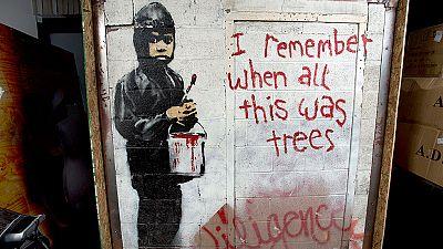 Un grafiti de Banksy podr�a superar el medio mill�n de euros en una subasta