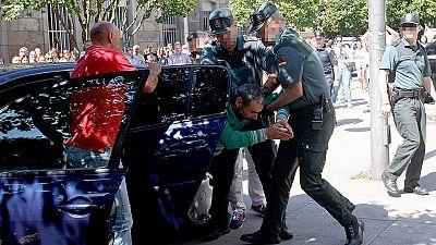El presunto parricida de Moraña pasa su primera noche en prisión