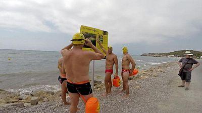 Estrenan tres recorridos para nadar a mar abierto en Sitges