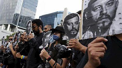 Manifestantes señalan al Estado mexicano por el asesinato del fotoperiodista Rubén Espinosa