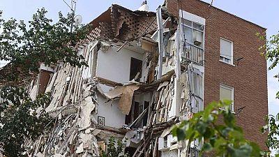 Derrumbe de un bloque de viviendas sin v�ctimas en Carabanchel