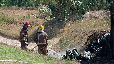 Dos personas han muerto al caer el ultraligero que pilotaban en Viladamat, en Girona