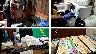 Detenidas 33 personas en Toledo y Madrid por tráfico de cocaína