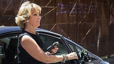 """Aguirre está """"alucinada"""" de que el juez de la Púnica hable de financiación ilegal"""