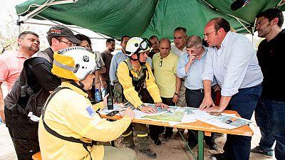 El fuego en Murcia ha quemado más de 620 hectáreas