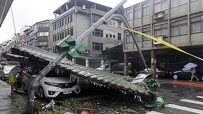 El tifón Soudelor deja cuatro muertos y un desaparecido en Taiwán