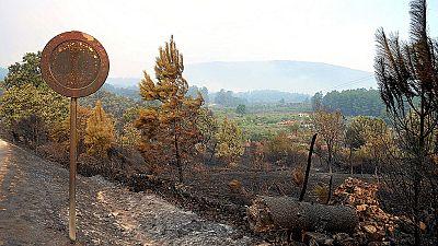 Los vecinos de Perales del Puerto y Acebo regresan a sus casas tras el incendio en Sierra de Gata